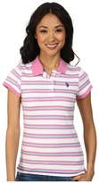 U.S. Polo Assn. Striped Jersey Polo
