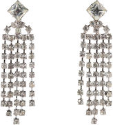One Kings Lane Vintage '50s Rhinestone Fringe Clip-On Earrings