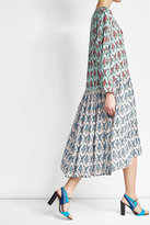 Jil Sander Navy Printed Crepe Dress