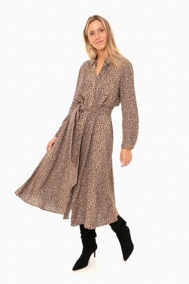 Leopard Aster Dress
