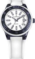 Jacques Lemans Miami Gents White Silicone Strap Watch 1-1784R