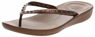 FitFlop Women's Iquishion Crystal Ergonomic Flip Flops Slide Sandal
