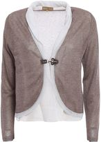 Fay Lurex Detailed Crop Cardigan