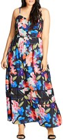 City Chic Flower Game Maxi Dress