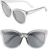 BP Women's 55Mm Square Sunglasses - Black Smoke
