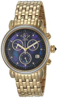 Gv2 GV2 by Gevril Women's Marsala Chrono Swiss Quartz Watch with Stainless Steel Strap