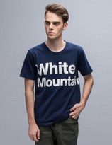 "White Mountaineering White Mountai"" Printed S/S T-Shirt"