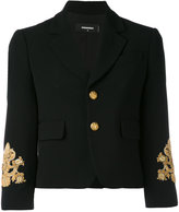 DSQUARED2 embroidered sleeve jacket - women - Polyester/Spandex/Elastane/Acetate/Brass - 40