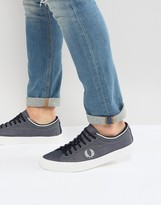 Fred Perry Kendrick Tipped Cuff Chambray Sneakers