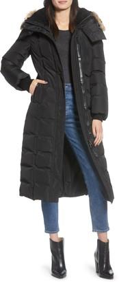 Mackage Jada-CR 800 Fill Power Down Coat with Genuine Shearling & Genuine Coyote Fur Trim