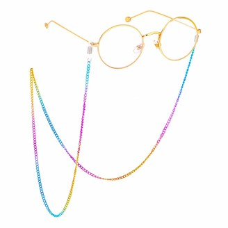 Fauhsto Glasses Chains Trendy Metal Colourful Eyeglasses Rope Reading Glasses Anti-lost Chain Fashion Glasses Rope Lanyard Neck Cord Sunglasses Lanyards Glasses Decoration