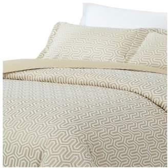 Natural Comfort Luxurious Cotton Duvet Cover Mini Set, Turn/Light Tau