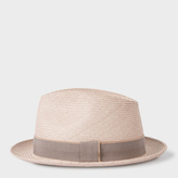 Paul Smith Men's Taupe Straw Panama Hat