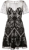 Marchesa short embroidered dress