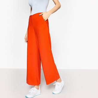 """La Redoute Collections Wide Leg High Waist Trousers, Length 28.5"""""""