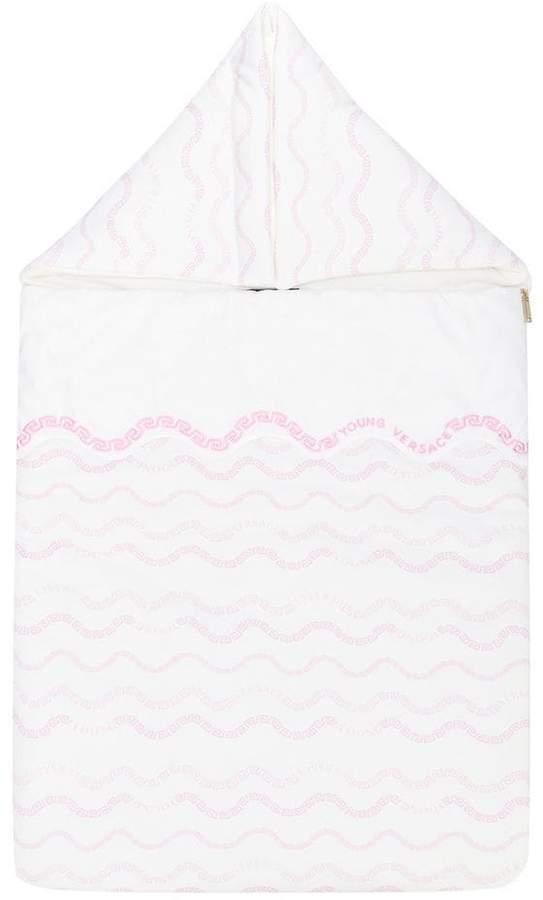 Versace logo embroidered sleeping bag