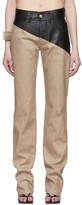 Bottega Veneta Brown Leather Jeans