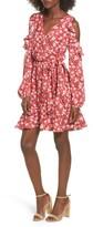Soprano Women's Cold Shoulder Faux Wrap Dress