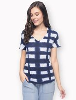 Splendid Vista Slub Treatment V-Neck Top