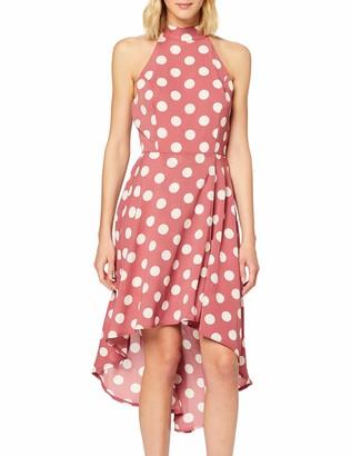 Yumi Women's Polka Dot High Low Dress Casual