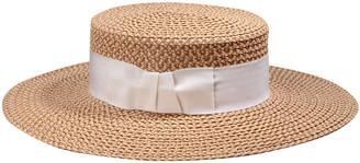 Eric Javits Gondolier Woven Boater Hat