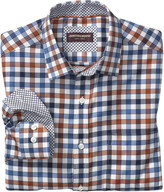 Johnston & Murphy Multi Twill Gingham Point-Collar Shirt