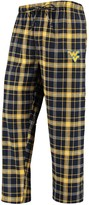 Unbranded Men's Concepts Sport Navy/Gold West Virginia Mountaineers College Ultimate Flannel Pants