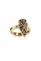 House Of Harlow Hematite Pave Arrowhead Ring