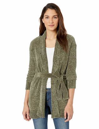 Tribal Women's L/S Chenile Cardigan with Tie