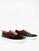 Comme Des Garcons Shirt Panelled Suede Sneakers