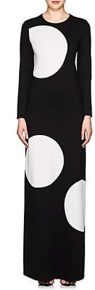 Lisa Perry Women's Polka Dot Ponte Gown - Black