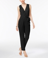 NY Collection Petite Ruffled Surplice Jumpsuit