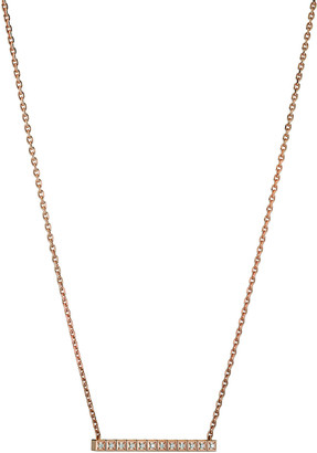 Chopard 18k Rose Gold Ice Cube Diamond Bar Necklace