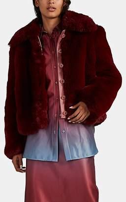 Sies Marjan Women's Felice Faux Fur Jacket - Wine