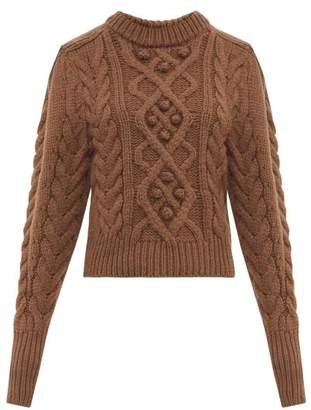Isabel Marant Milford Cable-knit Wool Sweater - Womens - Brown