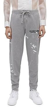 Helmut Lang Paint-Splatter Logo Sweatpants