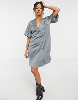ELVI blazer dress in grey