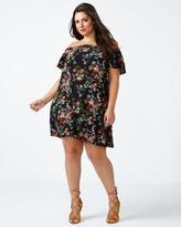 Penningtons ONLINE ONLY Off Shoulder A-Line Floral Dress