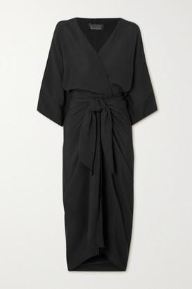 Haight Ana Woven Wrap Dress - Black