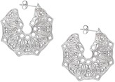 Lucy Ashton Jewellery Silver Mandala Hoop Earrings