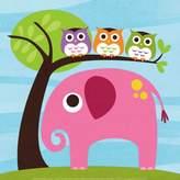 Art.com Elephant With Owls