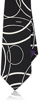 Ralph Lauren Purple Label MEN'S CIRCLE-PATTERN SILK CREPE DE CHINE NECKTIE-BLACK, WHITE, NO COLOR