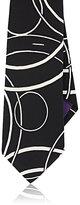 Ralph Lauren Purple Label MEN'S CIRCLE-PATTERN SILK CREPE DE CHINE NECKTIE