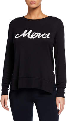 Marc Ny Performance 3-D Graphic High-Low Pullover
