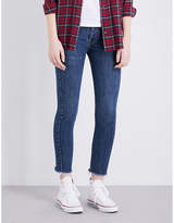 RE/DONE Frayed-hem skinny high-rise jeans