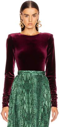 Bea Yuk Mui Andamane ANDAMANE Velvet Bodysuit in Bordeaux | FWRD