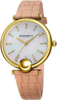 Bruno Magli 34mm Miranda Croco Watch, Blush
