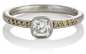 Malcolm Betts Women's Mixed-Diamond Ring