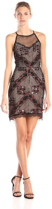 Greylin Women's Kiran Embellished-Lace Dress