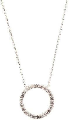Latelita Sparkling Halo Necklace Silver